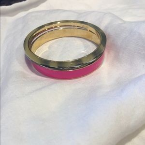 2J Crew bangles 1 fuchsia and one with marbling